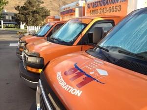 Restoration trucks in Douglas County