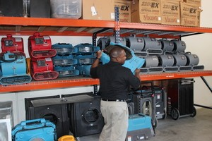 Professional Prepping Air Movers For Commercial Job